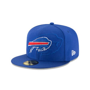 "Buffalo Bills New Era NFL ""Shadow Logo"" Sideline 59FIFTY Fitted Hat-Blue"