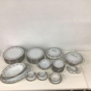 Noritake Glenwood 5770 Porcelain Dinner Set Pieces Incomplete #413