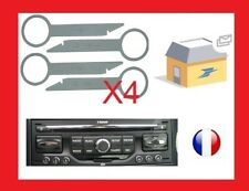 4 cles d'extraction demontage pour autoradio peugeot wip nav audi ford mercedes