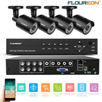 8CH HD DVR Outdoor 1080P Home Surveillance Security Camera System Night Vision