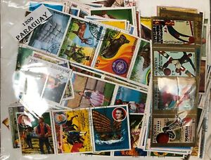 Lot of Paraguay 1200 all diferent Stamps Used/MNH