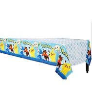"""New - Pokemon Core Party Plastic Tablecover 54""""x96"""" Tablecloth"""
