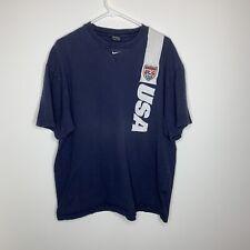 Nike Men's Xl Usa Soccer Navy Blue Short-Sleeve Jersey Shirt