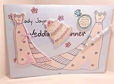 Wedding Planner Calendar 15 mth with Dress List, Cake Stickies Pen Junk Journal