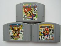 OEM Mario Party 1 2 3 Nintendo 64 N64 Authentic Video Game Cart Rare Originals