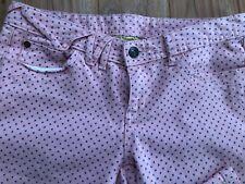 Princess Vera Wang Brand Junior Girls Jeans Size 5 Pink/Blue Color Heart Pattern