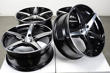 17 5x115 Black Effect Wheels Fits Cadillac DTS Seville Grand Prix 5 Lug Rims