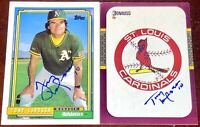 Tony LaRussa Chicago White Sox HOFer Manager auto autograph baseball card LOT X2