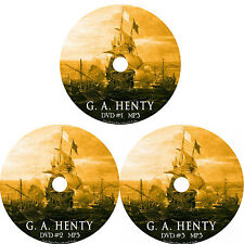 G A Henty Audio Book Collection 3 MP3 DVDs Unabridged Fiction English FREE SHIP