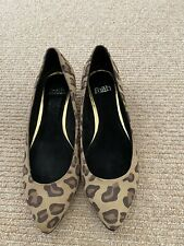 Brand New Faith Leopard Print Low Heeled Shoes - Size 5