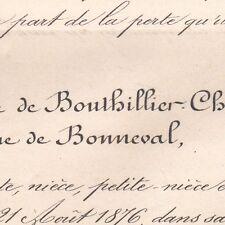 Yvonne De Bouthillier-Chavigny Antoine De Bonneval 1876