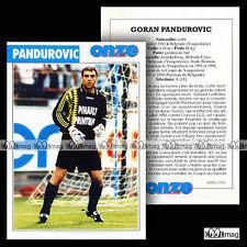 PANDUROVIC GORAN (PARTIZAN DE BELGRADE STADE RENNAIS RENNES) Fiche Football 1996