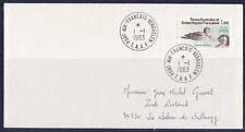 e/ TAAF oiseau  canard d'eaton   1983  p98  / enveloppe