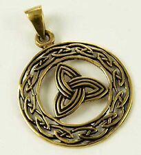 Charmed collier symbole triquetra bronze avec cordon cuir noir Charmed pendant