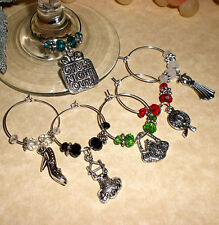 Set of 6 Wine Glass Charms ~ Girls Nite Out ~ Great Holiday Gift Idea