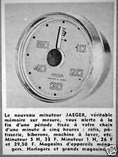 PUBLICITÉ JAEGER LE NOUVEAU MINUTEUR VOUS ALERTE D'UNE MINUTE À 5 HEURES