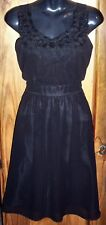 Sz 14 Girls/Womens Satin/Organza PARTY DRESS Soft Bodice Rosette Trim BNWT