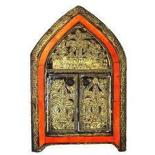 Orientalischer Marokkanischer Spiegel Orient Messing Wandspiegel S12 H29 cm