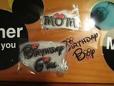 Iron on heat transfer- Choice of small Disney email choice- 1 per sale