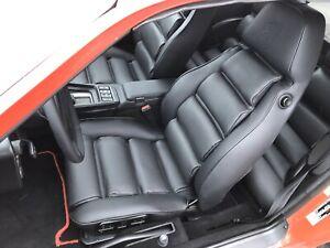 Porsche 928 black leather seats covers kit