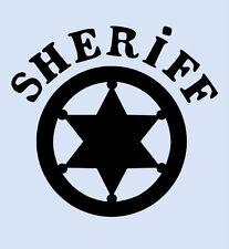 "SHERIFF STAR STENCIL STARS CRAFT STENCILS REUSABLE DURABLE TEMPLATE NEW 4"" X 5"""