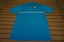 NEW Dunning Golf Polo Mens Size Large A-Bay/White  Shirt Clothing