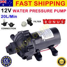 [10%OFF] 12V Water Pump 20L/MIN 70 PSI High Pressure Camping Caravan Farm Boat