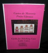 """Dessins """"Cartes de Mercerie Petits Gateaux"""" Cross Stitch Cards Chart Pack DHC"""