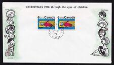 1970  No. 524p horizontal pair Winnipeg tagged unaddressed Cole cachet Christmas