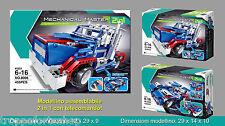 COSTRUZIONI MATTONCINI TIPO LEGO CON RADIOCOMANDO CAMION SUPERCAR 2 IN 1