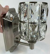 Doraimi 1 Light Crystal Wall Sconce Lighting Brushed Nickel Finish Modern Bling