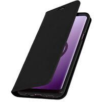 Samsung-Etui Galaxy S9 Plus Cover Leder Wallet-Etui Funktion Halterung - Schwarz