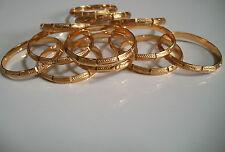 LOT 12PC  GOLD FINISH KIDS BANGLE BRACELET BEAUTIFUL DESIGN SET SIZE # 2