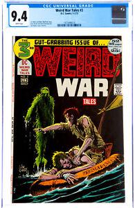 WEIRD WAR TALES #3 in NM condition CGC graded 9.4 DC Bronze Age war comic