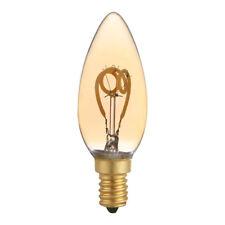 LED spirale filament rustique BOUGIE C35 3W E14 or très mince blanc chaud