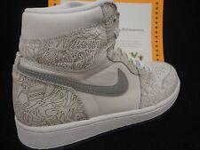 Nike Air Jordan 1 Retro Hi OG Laser, White / Metallic Silver, Limited, Size 9.5