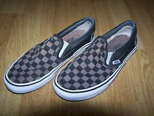 Mens Women's Unisex Vans Trainers Black & Brown Check Size 6 UK