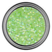 AB Green Resin Rhinestone Gem - 2mm 3mm 4mm 5mm 6mm - Flatback - Nail Art