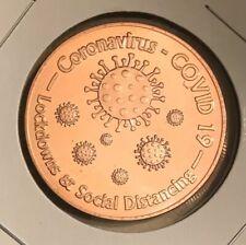 1 OZ COPPER ROUND CV 19 LOCKDOWNS & SOCIAL DISTANCING