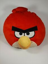 "Angry Birds Red Plush Stuffed Animal Pillow Large Character 15"" Soft"