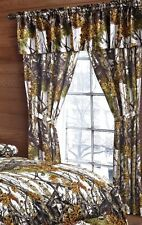 5 PC SET THE WOODS CURTAINS AND VALANCE DRAPES NEW WHITE WOODS CAMOUFLAGE
