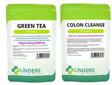 Green Tea Grüner Tee 9000mg & Darmreiniger Colon Cleanse verpacken x 120 Kapseln