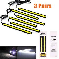 6pcs 12V Car Fog COB Lights LED Strip Vibration Resistant Daytime Running DRL