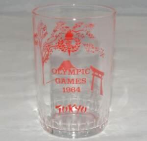 1964 Olympic Games Tokyo ORIGINAL VINTAGE OLYMPICS GLASS TUMBLER Very RARE/Nice!