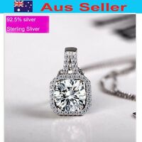 Fashion Sliver 925 Sterling silver pendant set w/white crystal coated W/Rhodium