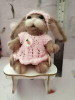 Ooak needle felted rabbit teddy handmade 🐇by debbie.