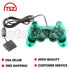 For Sony PS2 Playstation 2 Green Twin Shock Game Controller JoyPad Remote