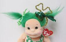 Ty Beanie Kids SHENANIGAN St. Patrick's w/SPECIAL Gold Shamrock Hair Decoration
