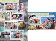 World War II Weltkrieg Churchill de Gaulle Politics Guinea MNH stamp set
