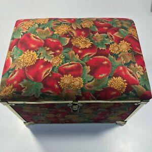 Vintage DecoTrunk Co. - Sewing Storage/Footrest Trunk - Apple & Floral Design